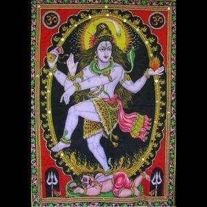SHIVA Sequined Hindu Tapestry